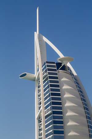 DUBAI, UAE - SEP 29, 2014: Burj Al Arab, considered the worlds most luxurious hotel on Sep 29, 2014. Editorial
