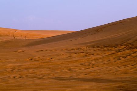 The Red sand of the Pink Rock Desert, Sharjah, Dubai, UAE Stock Photo