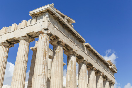 The Parthenon at the Acropolis in Athens, Greece