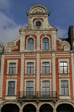 Old buildings around the Grand Place in the French Arras 写真素材