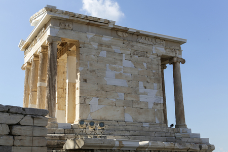 The Temple of Athena Nike at the Acropolis in Athens, Greece