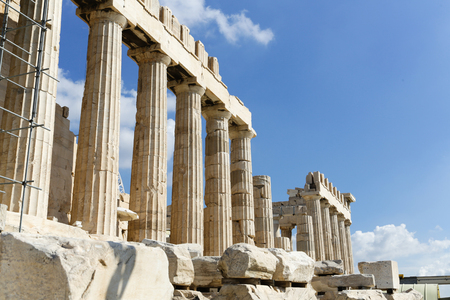 The Parthenon at the Acropolis in Athens, Greece