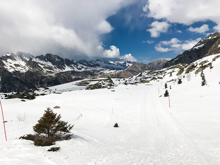 The Alpe d Huez ski domain in the French Alps
