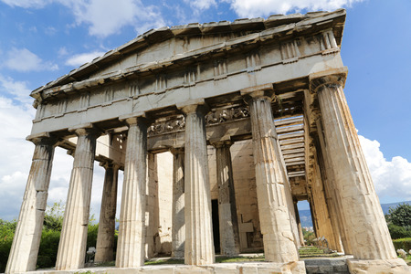 The Temple of Hephaestus at the Ancient Agora of Athens, Greece
