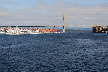 The bridge over the sea in the port of Stavanger, Norway