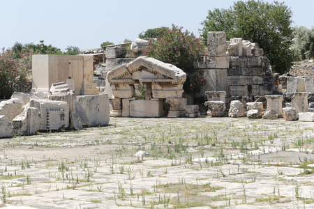 At the archaeological site of Elefsina, Greece