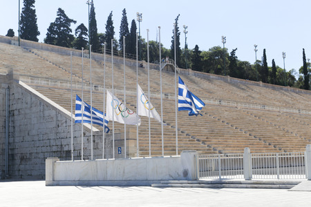 The Panathenaic stadium or kallimarmaro in Athens hosted the first modern Olympic Games in 1896