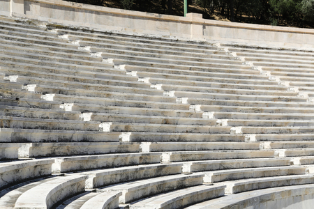 The Panathenaic stadium or kallimarmaro in Athens hosted the first modern Olympic Games in 1896 写真素材 - 120002505