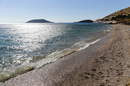The scenic view of Timari Beach in Greece