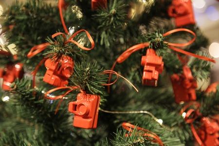 the Christmas tree camera toy