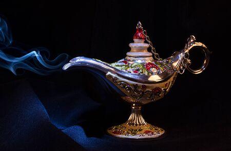 Magic  Genie lamp with a smoke