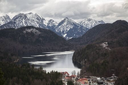 beautiful landscape in Europe on the background of a lake and mountains Reklamní fotografie