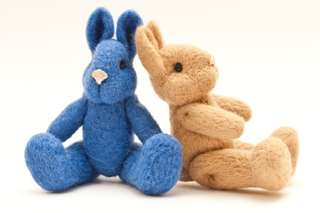 Lovely rabbit toy knitted sweater