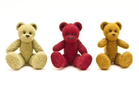 Beautiful unusual colored toy bears