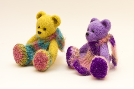 playthings: Beautiful unusual colored toy bears