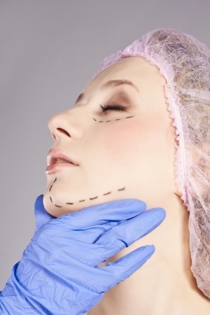 Beautiful young woman, with perforation lines