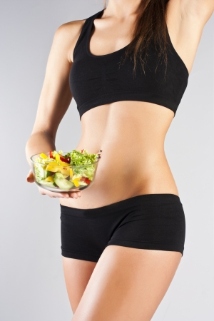 Sports pres young girl  Salad photo