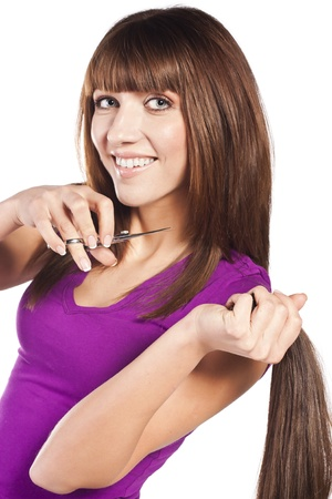 Woman loosing hair Stock Photo - 14097745