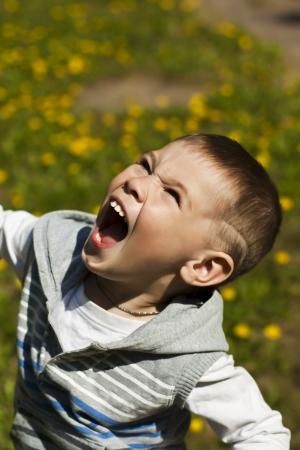 Little beautiful kid outdoor photo
