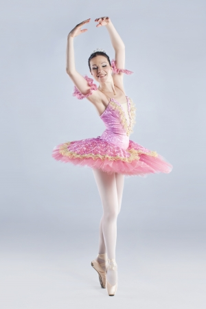 Full length of young ballet dancer, wearing tutu