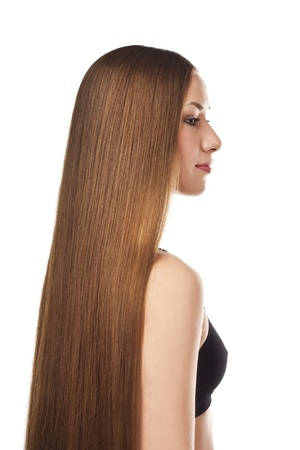 hair design salon: Beautiful long hair Stock Photo