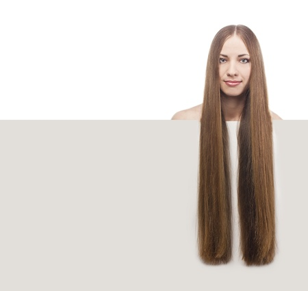 beautiful woman with long glossy hair Stock Photo - 15489029