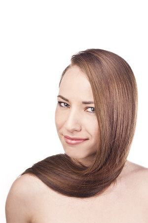 Woman with long beauty hair Stock Photo - 15489050