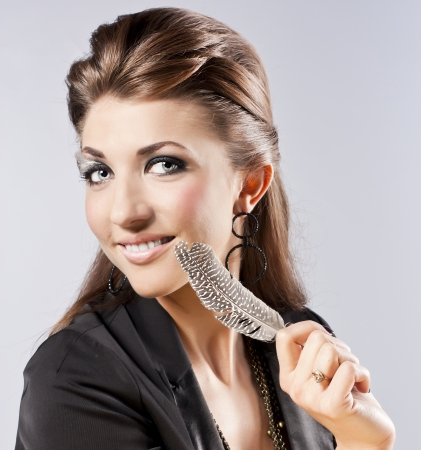 Attractive young woman in the studio  Professional Make-up photo