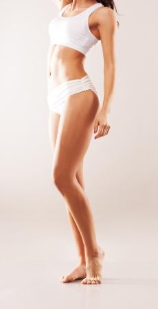 gorgeous body  athletic woman  studio