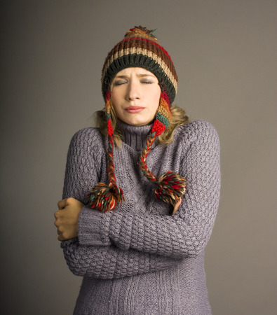 woman in cold photo