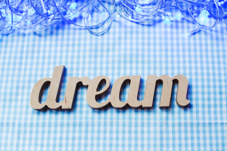 Wooden letters forming word Dream