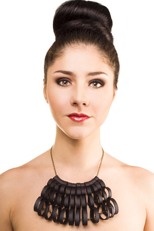 Fashion Beauty Girl with Necklace