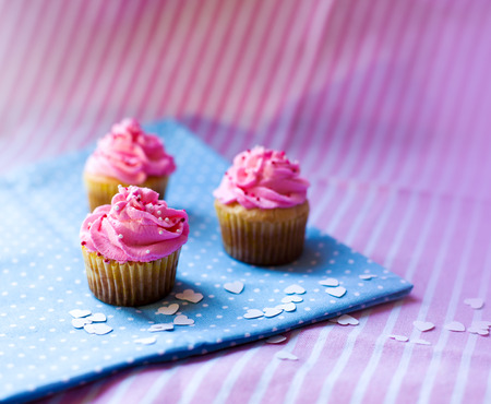 holiday cupcakes Standard-Bild