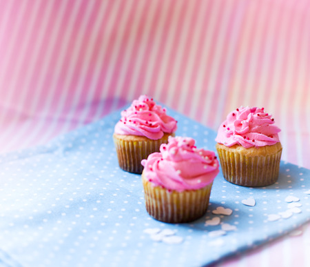 three delicious little cupcakes