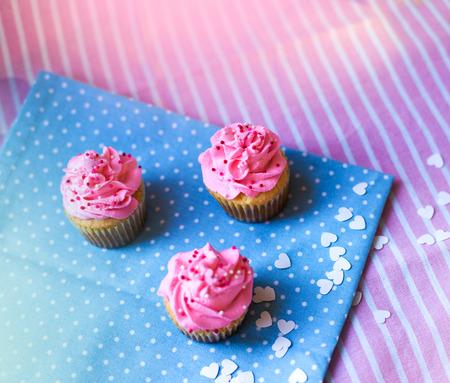 three Cupcakes Standard-Bild