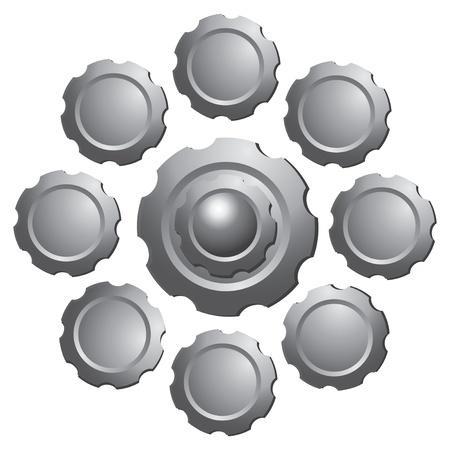 Gear vector on white background Illustration