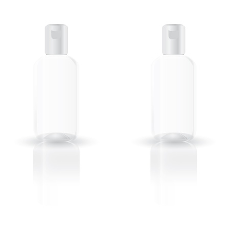 Clear plastic bottle vector on white background for test your logo