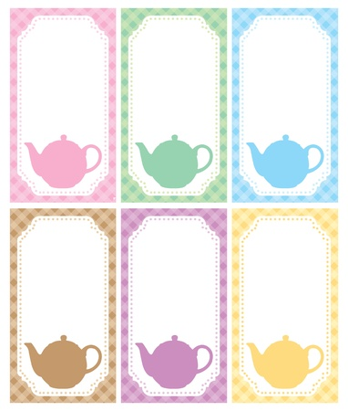 Tea label theme on white background for your text