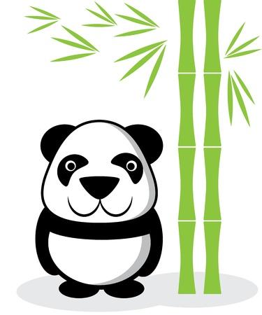 endanger: panda cartoon