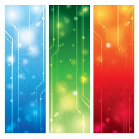 Abstract colorful technical background