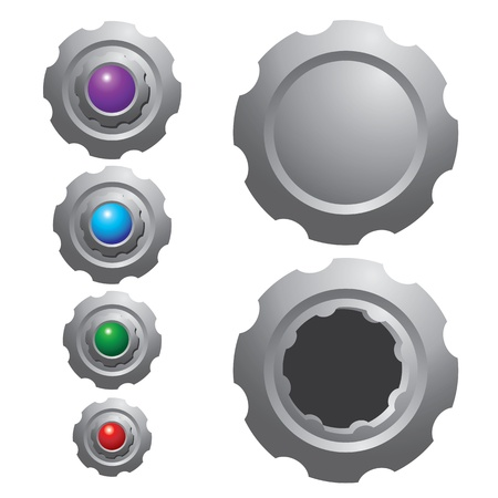 Icon and textbox of Gear vector isolated on white background