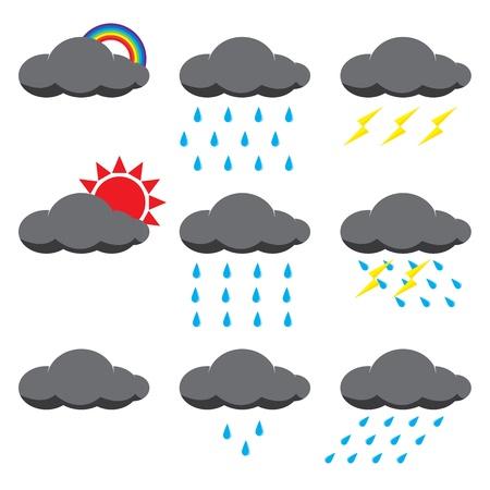 rainfall: Illustration of rain and sun