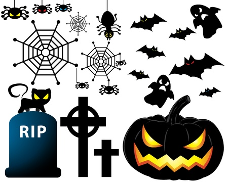 vector illustration of Halloween set Vector