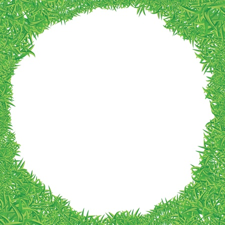 high angle view: illustration of green grass frame