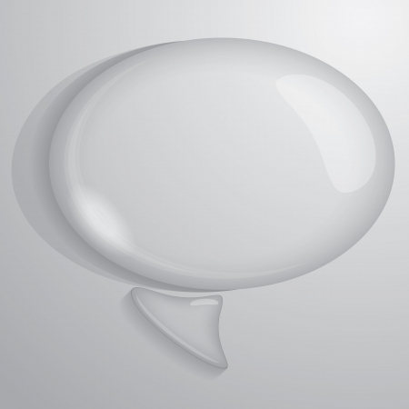 vector illustration of bubble water drop talk