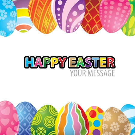 vector illustration of Easter egg background Vector