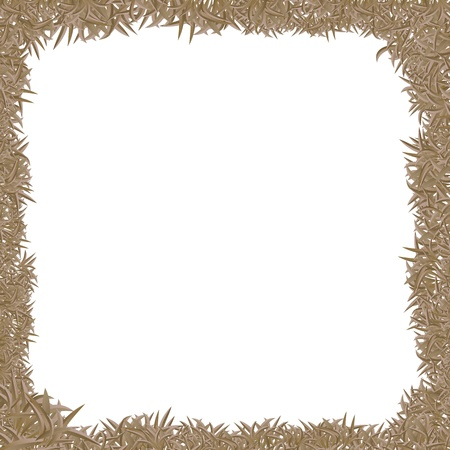 chipboard: vector illustration of dry grass frame Illustration