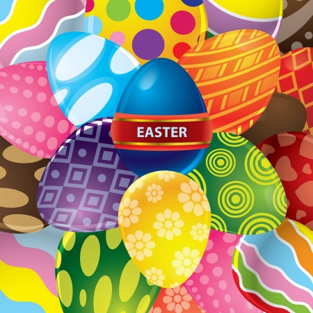 Abstract easter egg background vector