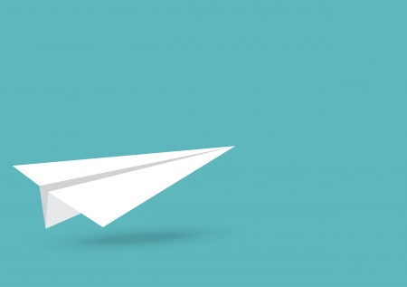 toy plane: vector illustration of Paper plane