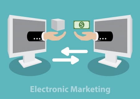vector illustration of Electronic Marketing  concept. minimal design Vector